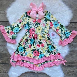 Girl Boutique Ruffle Floral Dress Set